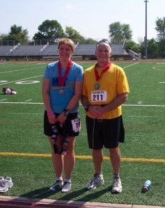 The boss & I after a 1/2 marathon 8/26/07