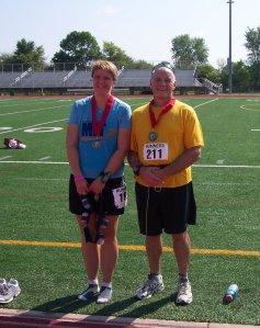 The boss & I after a 1/2 marathon 8/26/07