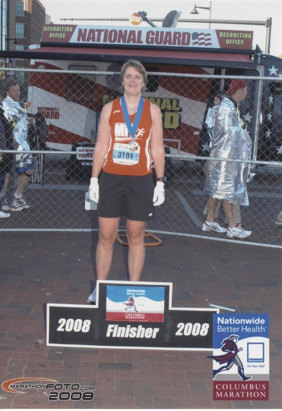 Proud 1/2 marathon finisher 10/19/08